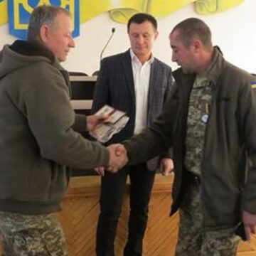 Мешканець Браїлова отримав відзнаку «За оборону Дебальцево»