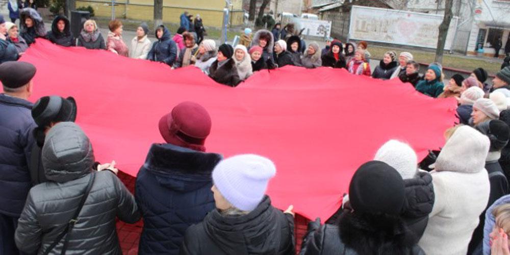 У Вінниці організували флешмоб «Відкрий серце для кохання»