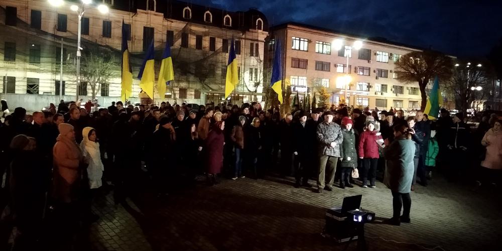 У Вінниці відбувся мітинг пам'яті за загиблими на Майдані