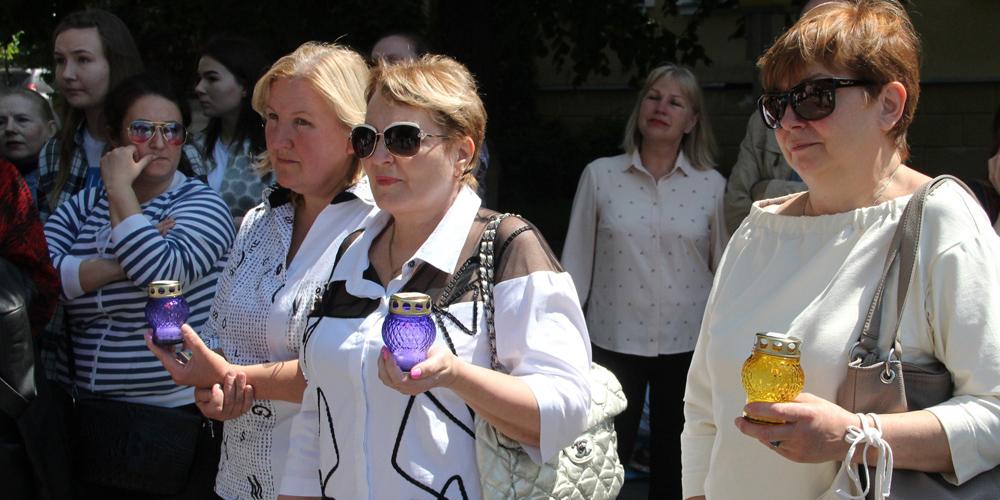 Хто у Вінниці вийшов на протест проти примусової вакцинації
