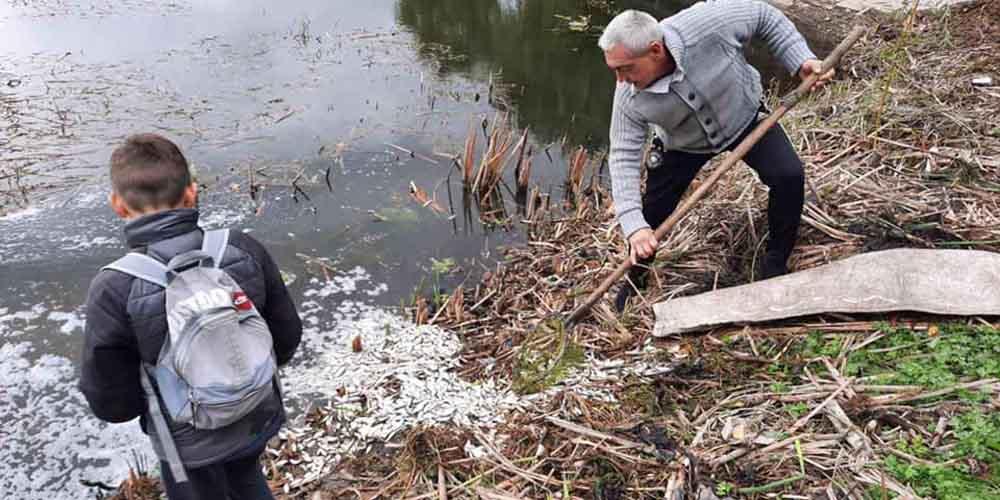 У Тяжилівський ставок днями запустили тонну малька