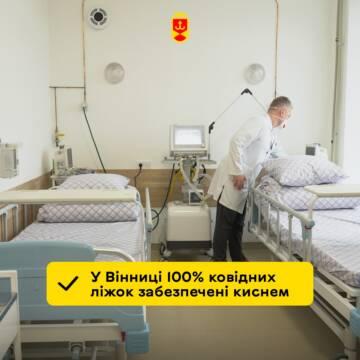 Майже 400 пацієнтів у вінницьких лікарнях наразі підключені до кисню
