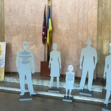 У Вінниці встановили арт-інсталяцію до Дня протидії торгівлі людьми