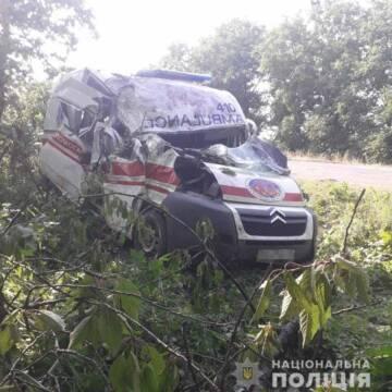 На Вінниччині у ДТП потрапила карета швидкої