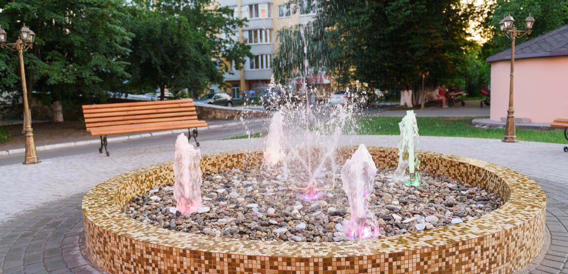 На території Центру матері та дитини облаштували світловий фонтан