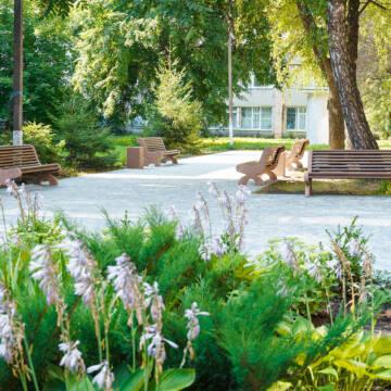У медмістечку на Вишеньці облаштовують зону очікування та відпочинку