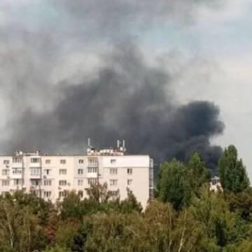 У Вінниці загорівся один з недобудованих житлових комплексів