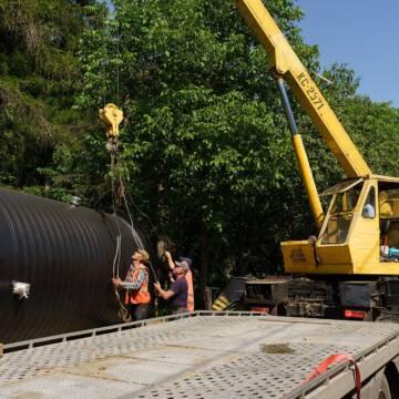 В одному з мікрорайонів Вінниці триває будівництво каналізації