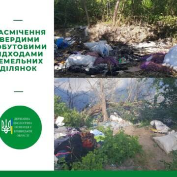 Неподалік Вінниці виявили декілька стихійних сміттєзвалищ