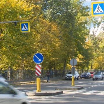 Перший в Україні проекційний пішохідний перехід з'явився у Вінниці
